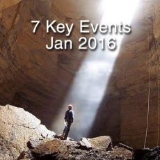 What 7 KEY EVENTS make the first week in January 2016 truly significant?