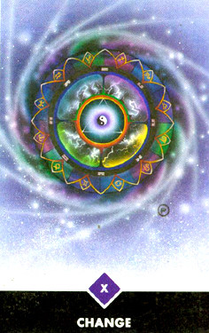 Change in the Osho Zen tarot is the wheel of Fortune-the evolving cycle of life