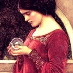 The Crystal Ball detail from painting by John Williams Waterhouse