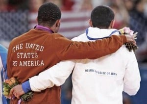 Olympic Wrestlers USA and Iran 2012