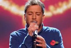 Matt Cardle singing on The X Factor