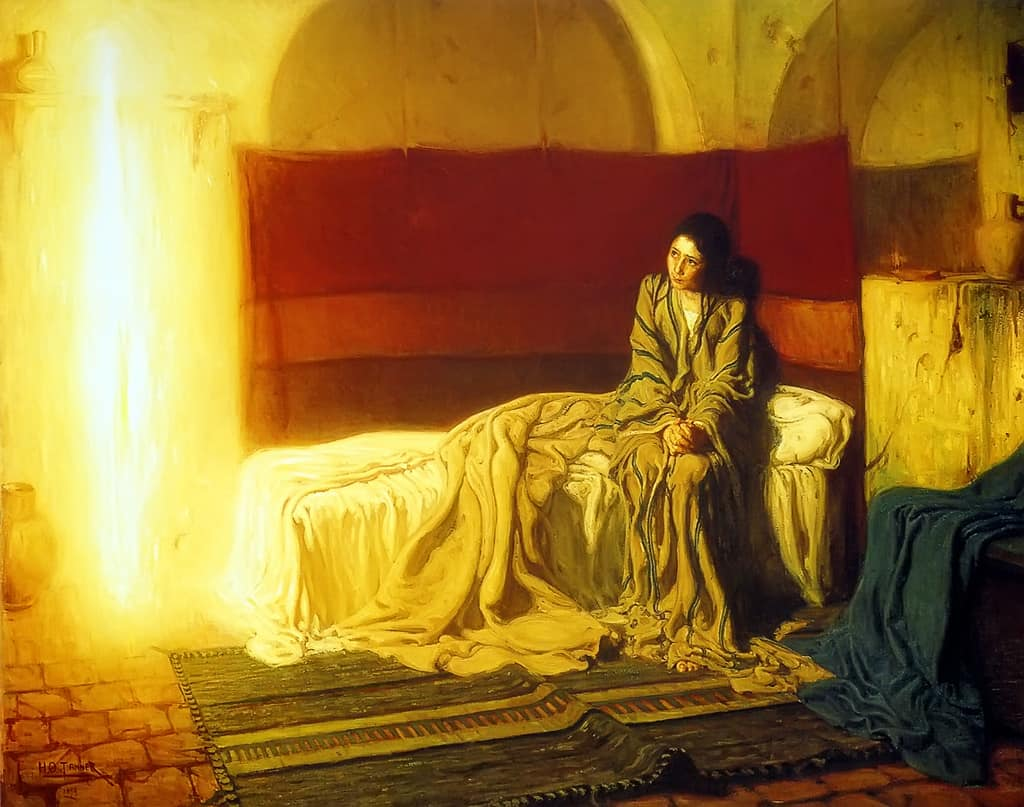 Gabriel and The Annunciation by Henry Ossawa Tanner 1896