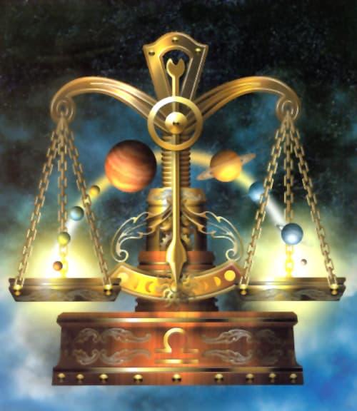 libra balancing the scales