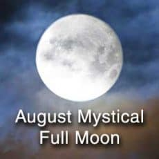 august mystical full moon