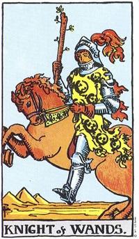 Sagittarius Full Moon. The Knight of Wands-the Crusader