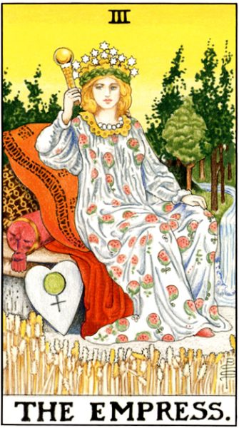 The Empress is Venus in the tarot