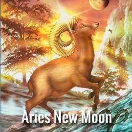 Aries new moon symbol the ram
