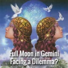 Lunar Eclipse at the Full Moon in Gemini