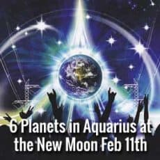 Amazing New Moon: 6 Planets in Aquarius