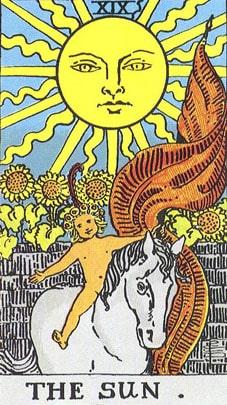 sun in Leo the tarot card