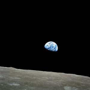The Earth as seen from Apollo 8 on Dec 24th 1968