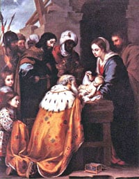 Wise Men Adoration Murillo