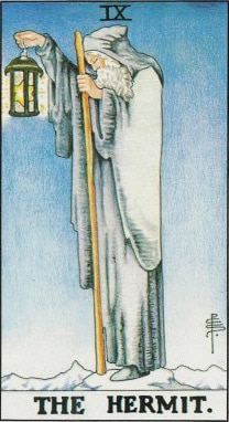 The Hermit in the tarot shows Saturn's journey