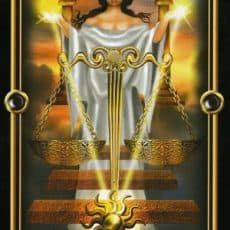 Libra is the Justice card in the tarot