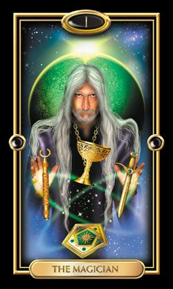 The Magician from The Gilded Tarot by Ciro Marchetti