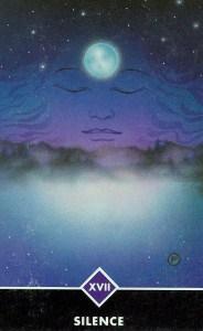Silence, the tarot card for The Star in Osho Zen tarot