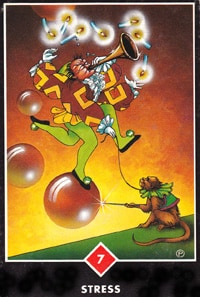 Stress. Card from Osho Zen tarot
