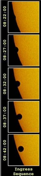 venus tranist the sun